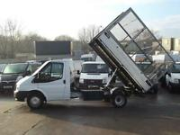 FORD TRANSIT 2.2TDCI T350M CAGED TIPPER 100PS 6 SPEED 1 OWNER F/S/H FINANCE & PX