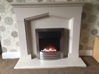 Stone Fire Surround & Electric Fire