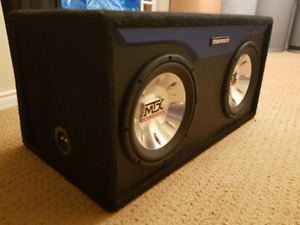 2 10inch MTX Subs and ported box