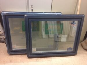 **NEW** Solid Vinyl Fixed Window (Exterior Painted Blue)