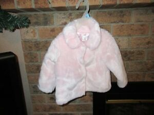Pink Faux Fur Coat 12-18 Months