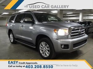 2011 Toyota Sequoia Platinum 5.7L 6A AWD, Leather, Nav, DVD