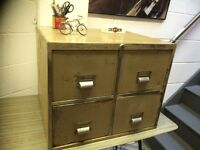 STEEL INDUSTRIAL FULING CABINET FOUR DRAWERS