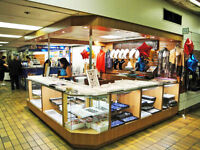 COMPLETE SHOWCASE KIOSK FROM MAJOR MALL AND CANOPY