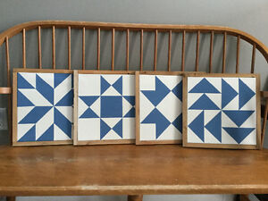 Set of barn quilt block canvases