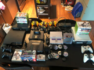 Selling huge video game collection! SNES N64 XBOX PS3 w/ games!!