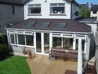 Tiled conservatory roof and insulated ceiling, loft insulation and more...