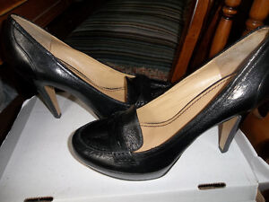 New nine west Black Leather shoes size 10