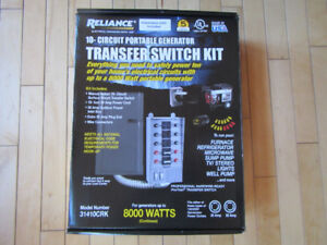 Generator Transfer Switch - NEW - 7500 Watt - 30A/240V, 60A/125V