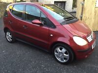 1999 MERCEDES A160 AVANTGARDE AUTO RED, LONG MOT, SMALL FAMILY AUTO MPV, PRIVATE PLATE INCLUDED