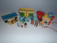 FISHER PRICE vintage  le train #991 little people circus train
