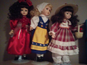 Poupées en porcelaine - Porcelain dolls