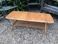 ORIGINAL BLONDE ELM 1960's ERCOL COFFEE TABLE