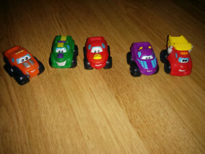 Plastic Toy Cars Chuck Friends Tonka Preschool Mini Soft Rubber