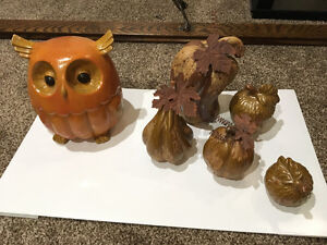Owl and Fall Ornaments