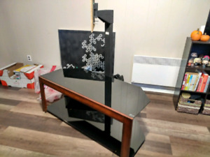Modern TV Stand with Pivoting TV mount