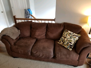 Microsuede Couch Set - DELIVERY INCLUDED