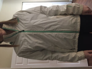 White north face jacket, size m