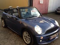 54 PLATE MINI COOPER CONVERTABLE FULL MOT £2195!!!