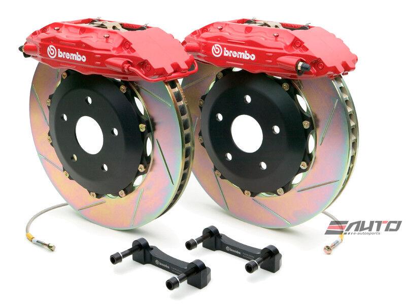 Brembo Front Gt Brake Bbk 4 Pot Red 355x32 Slot A3 Beetle Turbo Gti Jetta Gli