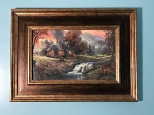 PAINTING! - art, nature, woods, cabin, relaxing, great condition