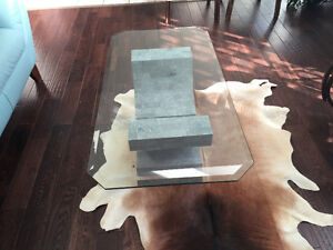 Glass Coffee table, side table and consul