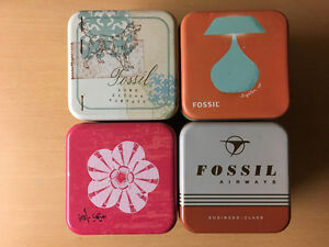 4 Genuine Highly Collectible Fossils Watch Tim Boxes