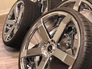 """Mag 22"""" chrome pneu neuf"""