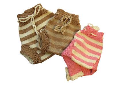 как выглядит Трусики под подгузники Striped Diaper Cover 100% MERINO WOOL baby cloth nappy soaker longies leggings фото