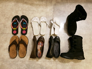 Souliers et sandales : 5$ le lot!