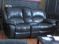 Black Leather Rocker Recliner Couch