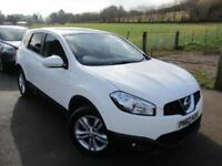 2012 NISSAN QASHQAI ACENTA PLUS 2 DCI 7 SEATER , PANORAMIC ROOF IN WHITE HATCHB