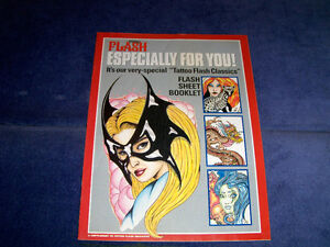 TATTOO FLASH CLASSICS-FLASH SHEET BOOKLET-SUPPLEMENT TO MAGAZINE