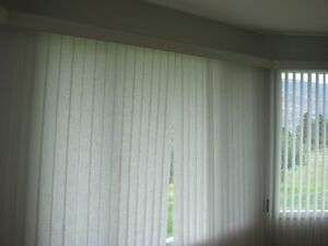 Vertical blinds for bay window