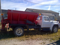 1975 Ford F-600 Sanding Truck with Plow