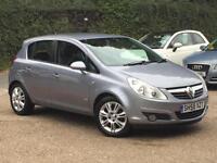 2008 Vauxhall Corsa 1.2i (a/c) Design 5 Door Silver Lightening only 42k Miles!!!
