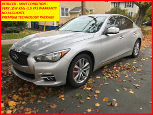 REDUCED -WARRANTY, V LOW KMs - NO ACCIDENTS - INFINITI Q50 TECH