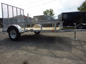 NEW 2018 GALVANIZED UTILITY TRAILERS WITH RAMP