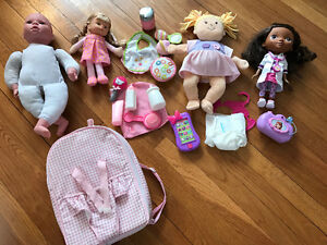 Baby Stella and various babydoll toys