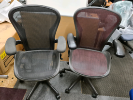 Herman Miller Aeron Size B fully loaded black and maroon
