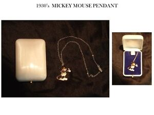 1930's MICKEY MOUSE PENDANT