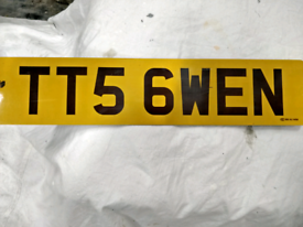 Cherished no plate TT 56 WEN for sale, for your Audi TTS or for Gwen