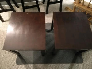 Side tables.
