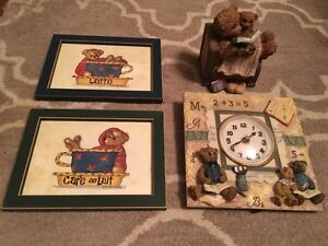 Teddy Bear Pictures, Clock & Piggy Bank