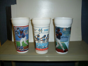 Toronto Blue Jays Carlos Delgado 32 oz. Plastic Cups 3 Different