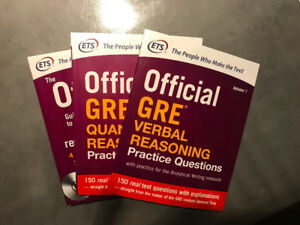 Official GRE Books with practice exams