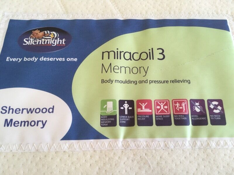 Silentnight Miracoil memory foam double mattress