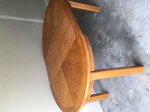 Solid oak table with centre piece for sale