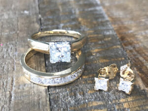Princess Cut Diamond - Trio of Rings