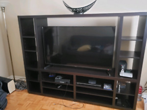 T.v wall unit entertainment stand